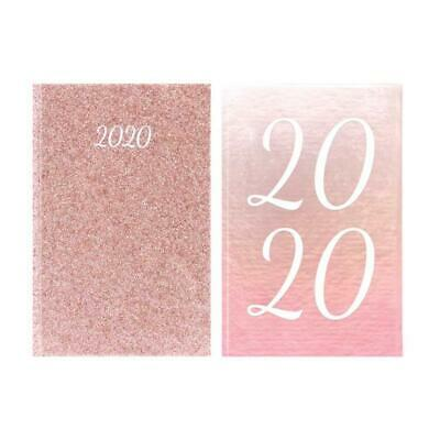 2020 Week to View Pocket Diary with Ombre & Rose Gold Glitter Design