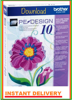 Brother PE Design 10 Embroidery Full Software & Free Gifts ✅ INSTANT DOWNLOAD ✅