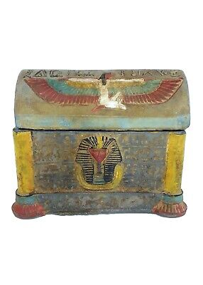 Egyptian Antiques Sarcophagus Sepulture Lided Stone Coffin Tomb