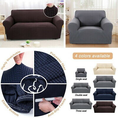 1/2/3 Seater Sofa Slipcover Stretch Protector Soft Couch Cover Easy Fit Washable