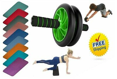 Abs Wheel Roller Abdominal Core Exercise Fitness Crunch Gym Training knee Pad