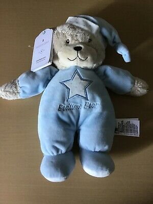 Mothercare Blue Bedtime Bear Star Soft Toy comforter New With Tags