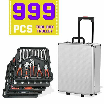 999pc Professional Premium Carbon Tool Set Case Mechanics Kit Carry Troll UK