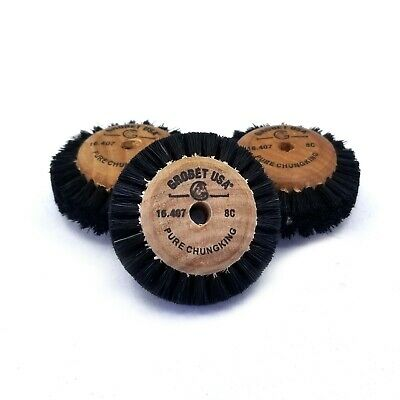 Brush Wheels With Wooden Hub Center 8C - 2 inches - 3 Pack