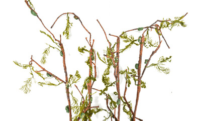 Artificial Moss Twig Branches