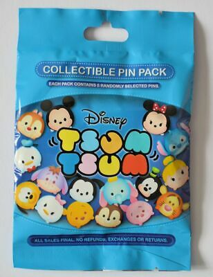 Disney Parks Collectible TSUM TSUM Mystery Bag 5 Pins Sealed NEW