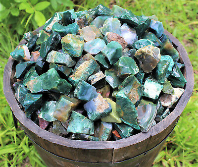 1/4 lb Bulk Lot Natural Rough Bloodstone Raw Rock Stone (Crystal Healing 4 oz)
