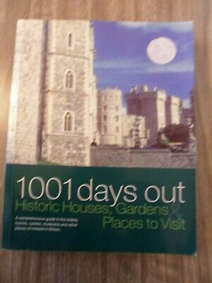"""1001 Days Out"" Book/Guide To Historic Houses,Gardens,Museums,Holidays,Travel"