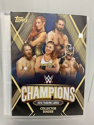 Topps WWE Champions 2019 Official Binder With 80+ Cards.
