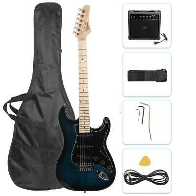 "Glarry 39"" Electric Guitar for Music Lover Beginner with 20W Amp Dark Blue"