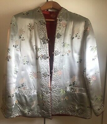 Reversible Chinese Silk Embroidered Women's Coat Jacket
