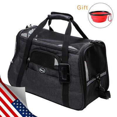 Pet Carrier  Air Mesh Soft Sided Cat/Dog Travel Tote Shoulder Bag Collapsible