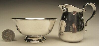 Reed and Barton Miniature Paul Revere Bowl and Pitcher Set Silver plate No.964