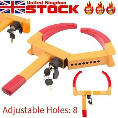 Wheel Tyre Tire Lock Clamp Car Truck Towing Duty Anti-Theft Security Safety kq