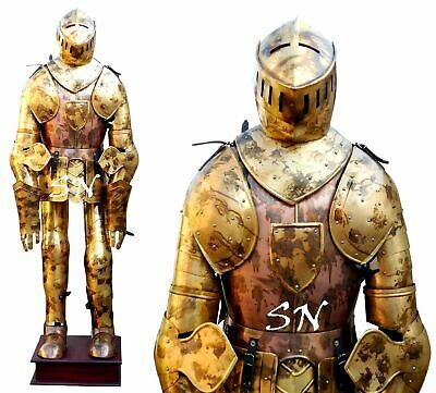 Medieval Antique Aged Suit Armor Combat Full Body Armour Suit Collectible SCA