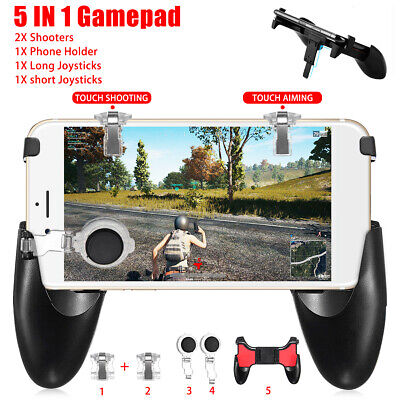 For PUBG 5 IN 1 Mobile Gaming Gamepad Joystick Controller Trigger Fire Button