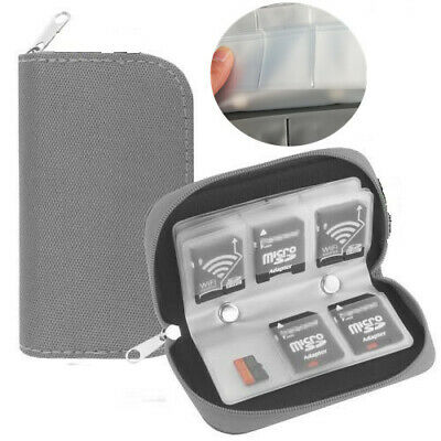 22-Slot Memory Card Case SD SIM CF Card Holder Carrying Bag for Micro SDHC geay