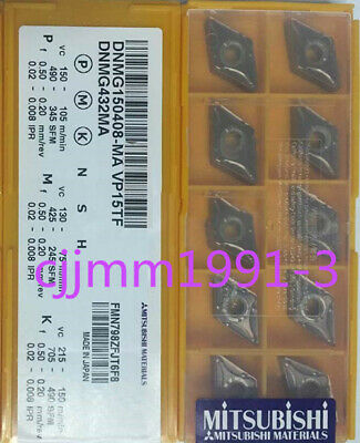 Factory Pack of 10 Mitsubishi SPMT 120408A SPMM432A UTi20T Machinist Lathe CNC