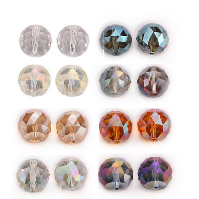 20mm 5PC Faceted Glass Crystal Round Loose Spacer Beads DIY Jewelry Design