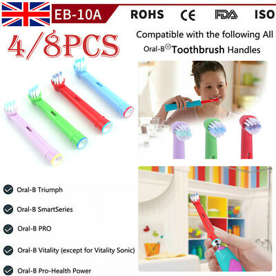 8pcs Electric Kid Toothbrush Replacement Heads Fit For Oral-B Stages Teeth Brush