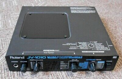 Roland JV-1010 JV 1010 64 Voice Synthesizer Module MIDI GM Sounds W/AC Adapter