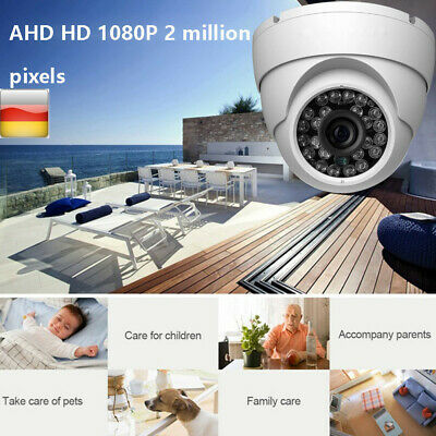 1080P WIFI IP Camera Outdoor CCTV AHD HD Home Security IR Cam Dome waterproof DE