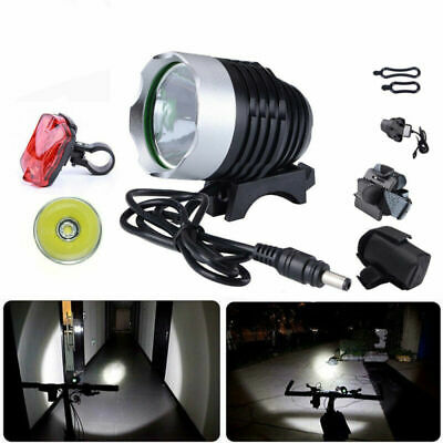 T6 LED 2000 Lumens Bicycle Bike light Headlight Rechargeable Front&Rear Lamp AU