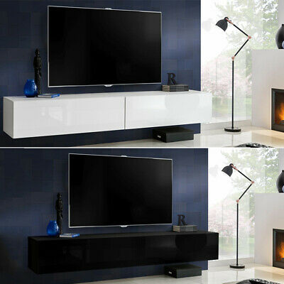 Wall Mounted TV Cabinet Entertainment Unit Floating TV Stand TV Shelves iY