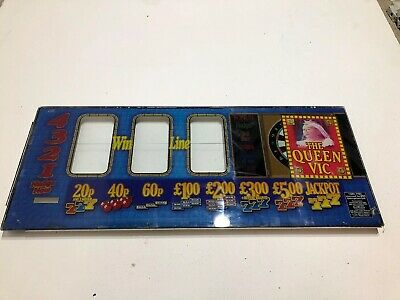 EastEnders The Queen Vic 1985 Fruit Machine Reel  Nudge Glass Man Cave