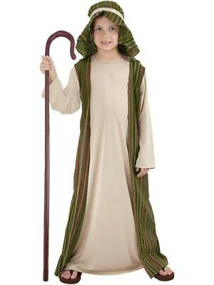 Child Green Shepherd New Fancy Dress Costume Christmas Joseph Nativity Kids Boys