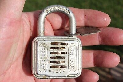 WORKING VINTAGE ABUS COMBI PADLOCK w/COMBINATION №150/40MM MADE IN GERMANY