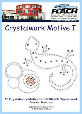Nähwelt Flach Stickmuster CD Motive: Crystalwork Stanzmotive
