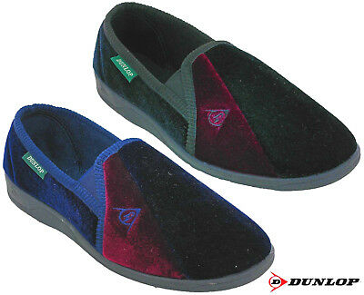Dunlop Slippers Velour Twin Gusset Duncan Mens Slip On Limited Edition