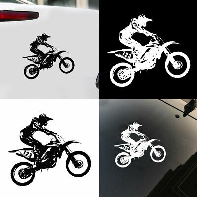 KM_ Reflective Motocross Stunts Motorcycle Car Truck Vehicle Decals Sticker De