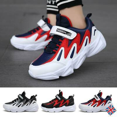 Kids Boys Colour Block Running Sports Comfort Shoes Chunky Sneakers Trainers NEW