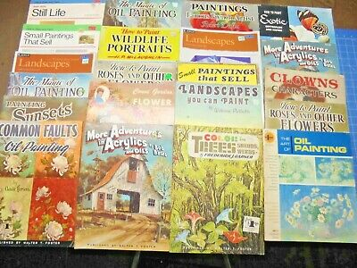 Lot of 22 vintage WALTER T. FOSTER  & OTHERS How To Draw & Paint Art Books instr