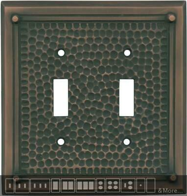 Hammered with Nails Antique Copper  Switch Plates, Wall Plates & Outlet Covers