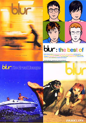 BLUR Album & Single Posters A4, A3, A2 High Quality + Glossy 220gsm
