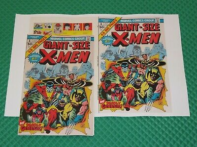 Giant-Size X-Men #1 Beautiful Repro Cover Only w/Original Ads New Uncanny Marvel
