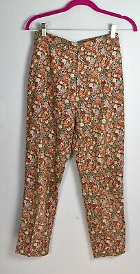 Adorable Vintage 1980s Ditsy Floral Needlecord High Waist Trousers by CACHAREL