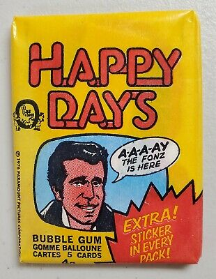 Happy Days TV Show 1976 Series 2 Yellow OPC O-Pee-Chee Canada Sealed Pack