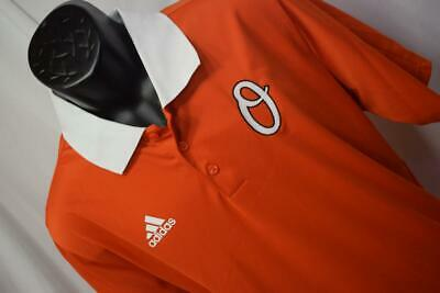 24886 Mens Adidas Golf ClimaLite Baltimore Orioles Golf Polo Shirt Size Large