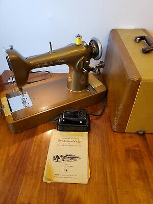 Tested Working Vintage Free-Westinghouse Sewing Machine With Knee Pedal and Case