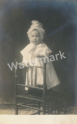 Early 20th Century Baby Portrait St. Louis Photography Postcard Haas & Haas