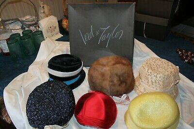 Fabulous lot of 6 Vintage Ladies Hats Lots of Millinery some Lord & Taylor