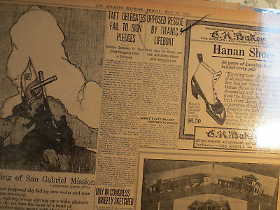 Titanic Ship Newspaper 1912 OPPOSED RESCUE BY LIFEBOAT MEMBERS SAYS SAILOR