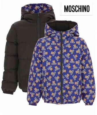 Moschino Down Reversible Jacket 10 Years ( Size 6 & 8 Available )  Genuine