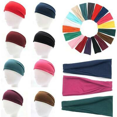 Unisex Men Women Stretch Sweat Headband Sport Yoga Fitness Sweatband Head Band
