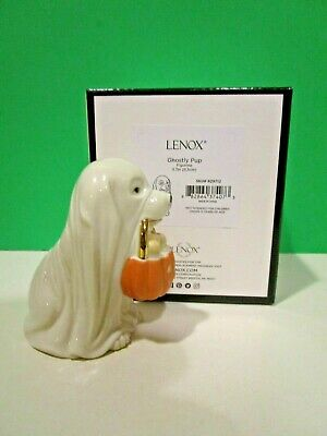 LENOX GHOSTLY PUPPY Dog Halloween NEW in BOX