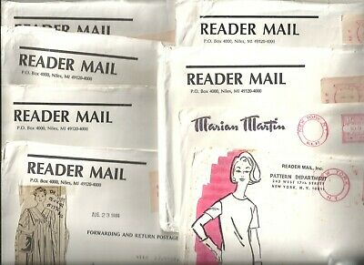 Lot Of Eight Mail Order Misses' Various Styles & Sizes Sewing Pattern Vintage